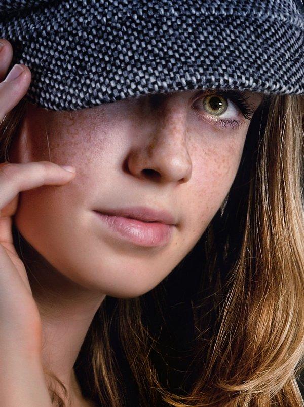 веснушки, девушка, солнце, улыбка, портрет, рыжая, майкоп,кепка, Анастасия Овчинникова