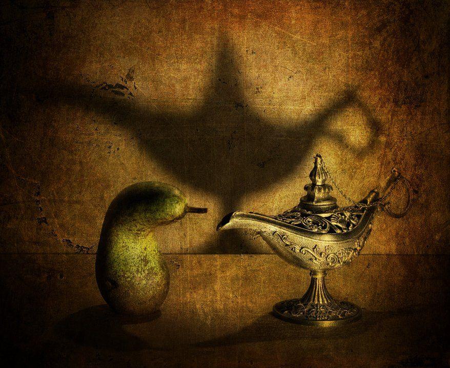 натюрморт, груша, волшебная лампа алладина, Наталья Кузнецова (Nateletro)