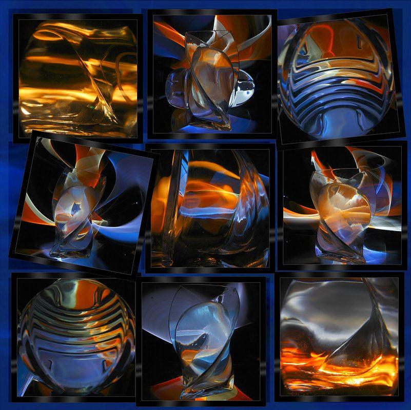 светографика, преломления, искажения, свет, стекло, абстракция, импровизация, HoryMa (ХориМа)