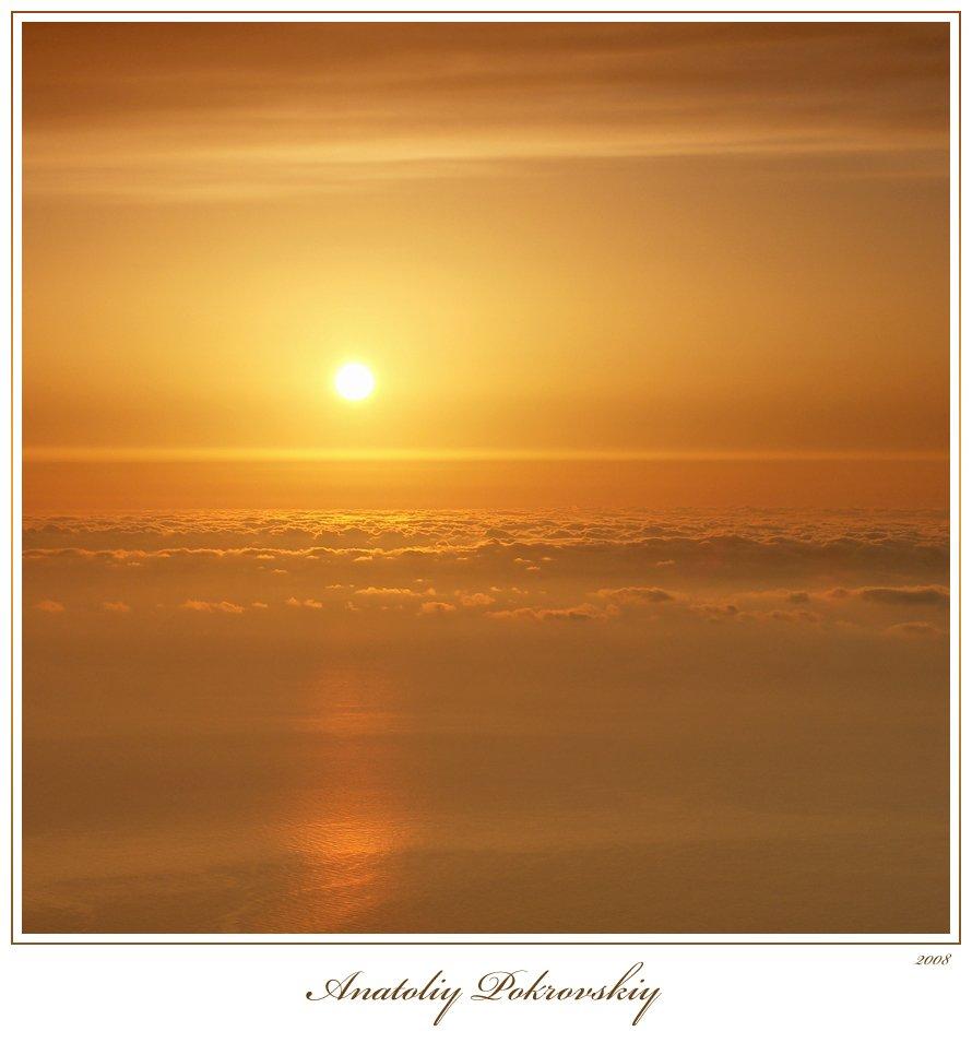 восход, солнце, облака, утро, свет, Анатолий Покровский