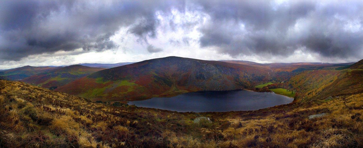 осень, ирландия, горы, озеро, туча, Екатерина Богданова