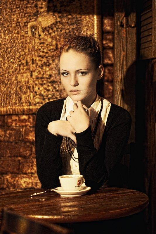 кофе, кофеварка, город, девушка, стиль, кафе, Сергей Белых