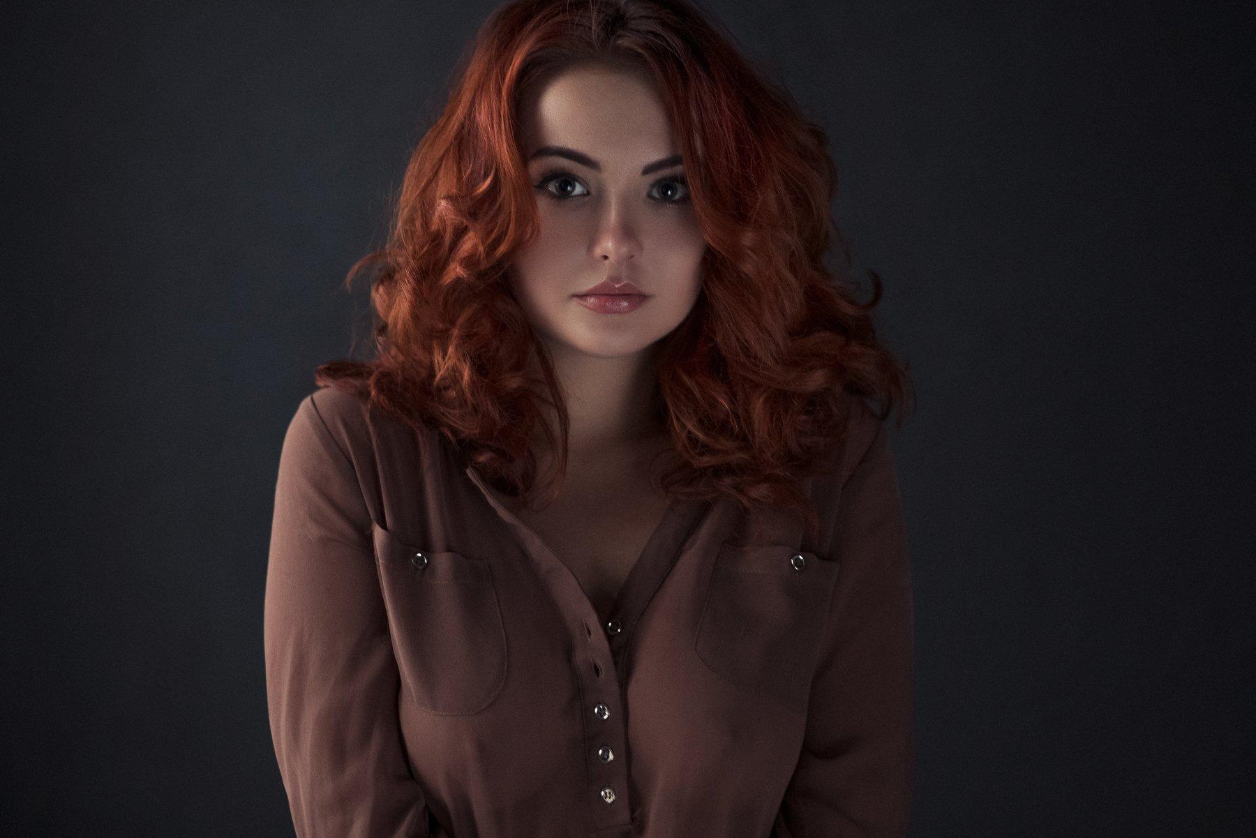 girl,portrait,color,pretty,sensual,cute,redhead,window light, natural light, Андрей Фирсов