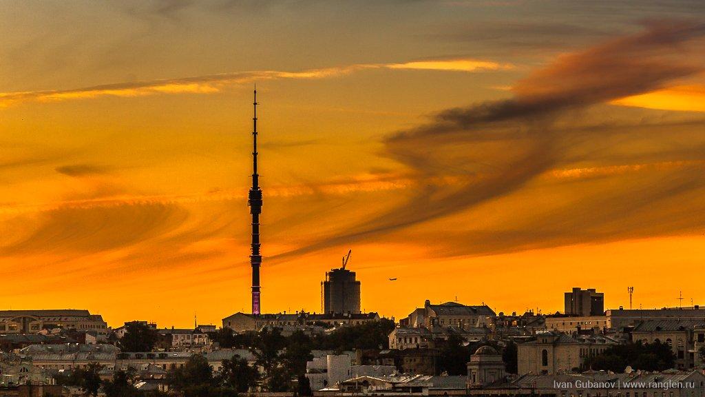 москва, закат, небо, кремль, крыши, городской, город, урбанизм, столица, прекрасный, вечер, лето, 2017, Иван Губанов