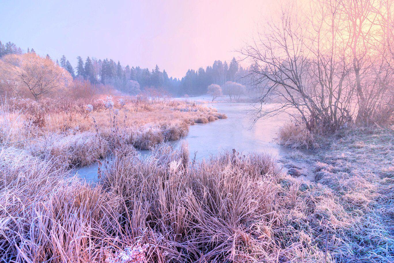 зима, река, утро, мороз, Виктор Климкин