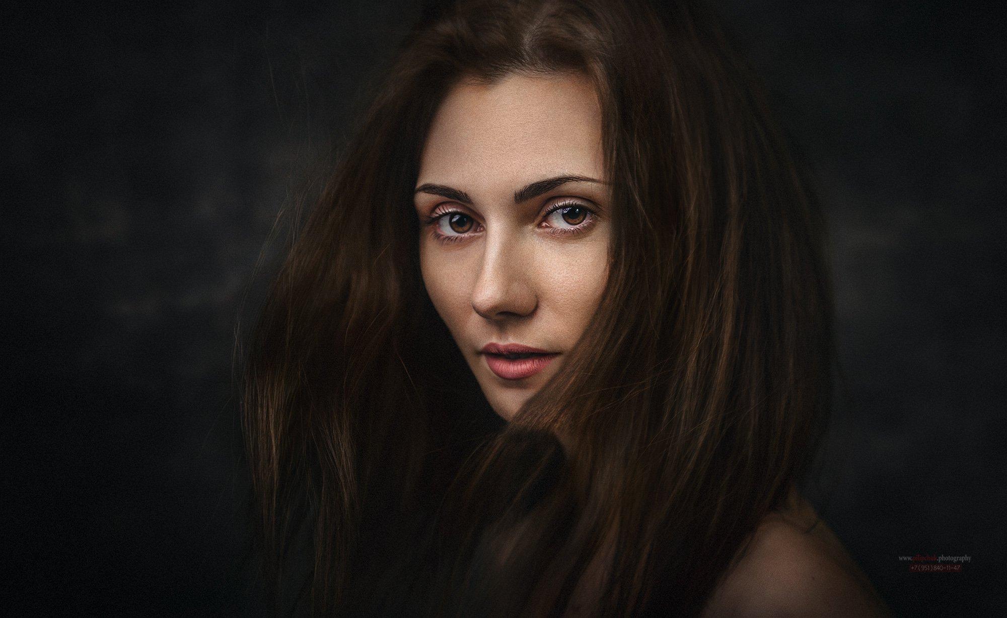 портрет, девушка, в студии, модель,, Пилипчук Константин