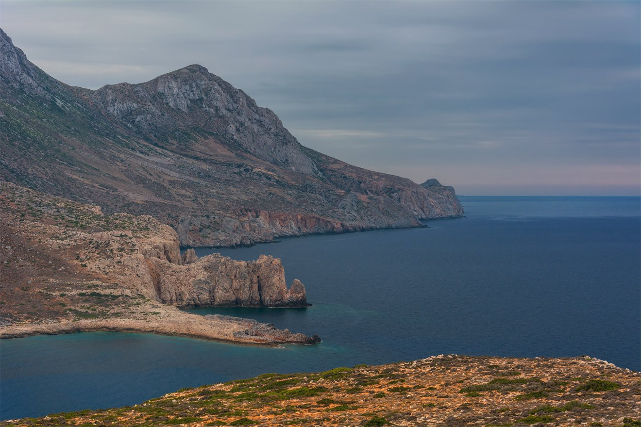 природа, пейзаж, море, горы, берег, побережье, греция, Альберт Беляев