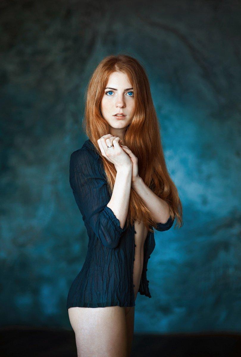 девушка, портрет, Павел Рыженков