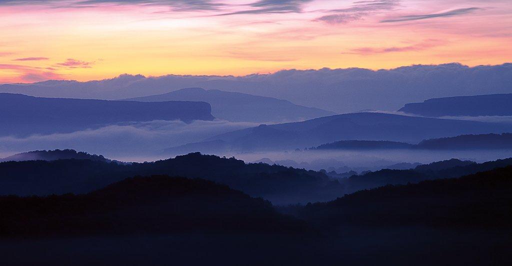 крым, горы, восход, туман, Евгений