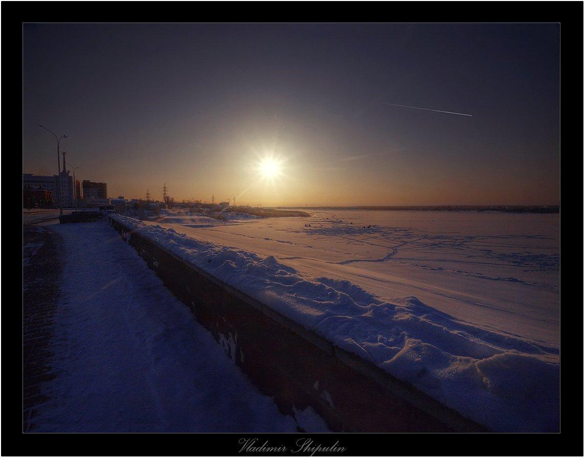 томск,набережная,владимир,шипулин,холод,города,мороз, Vladim_Shipulin