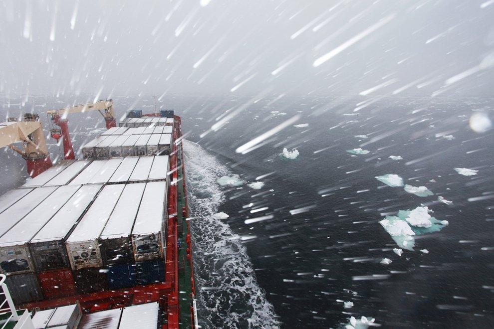 карское море, надежда, снегопад, Шварц  Леонид - shvartsphoto