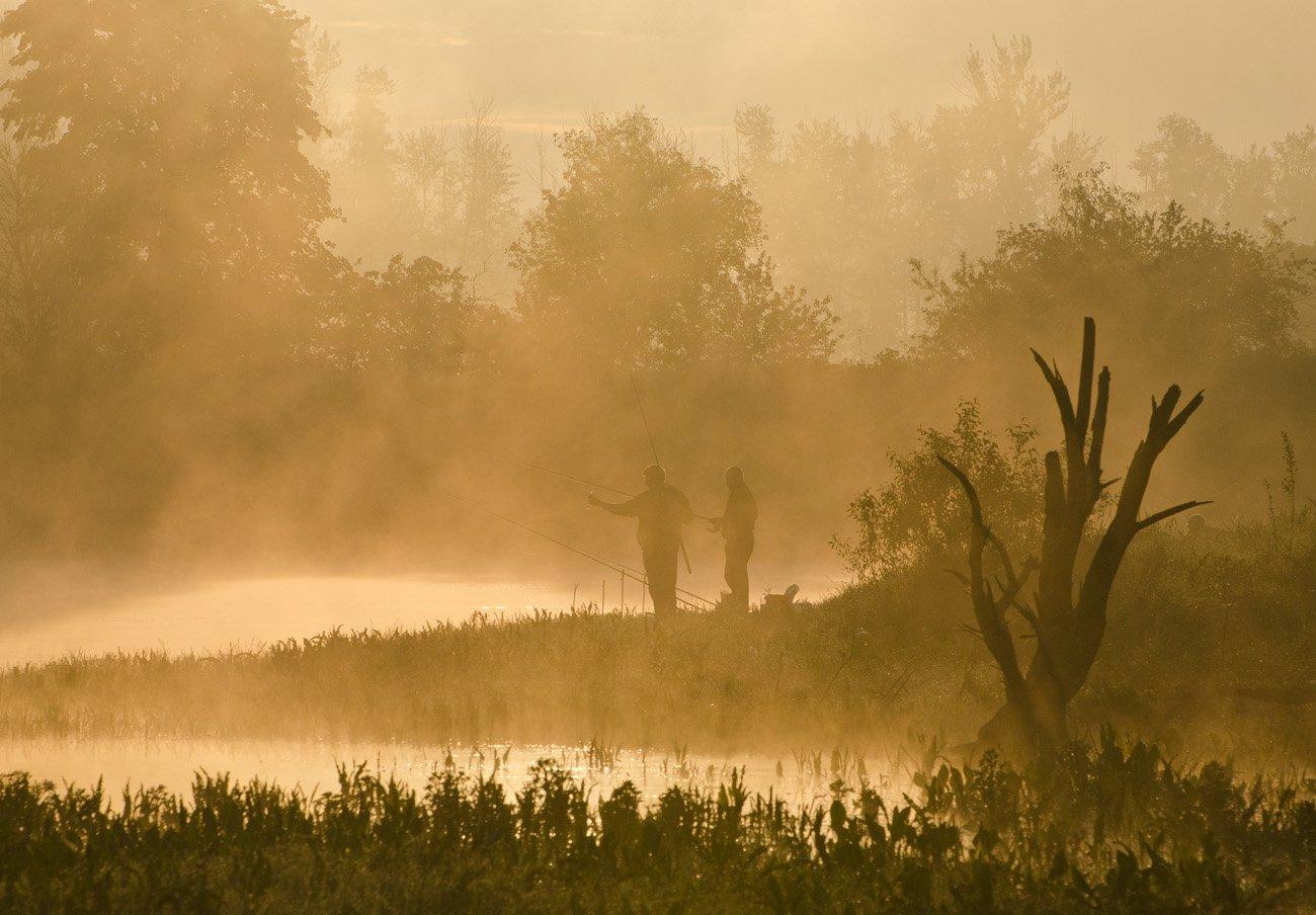 утро туман рыбалка коптево, Михаил Агеев