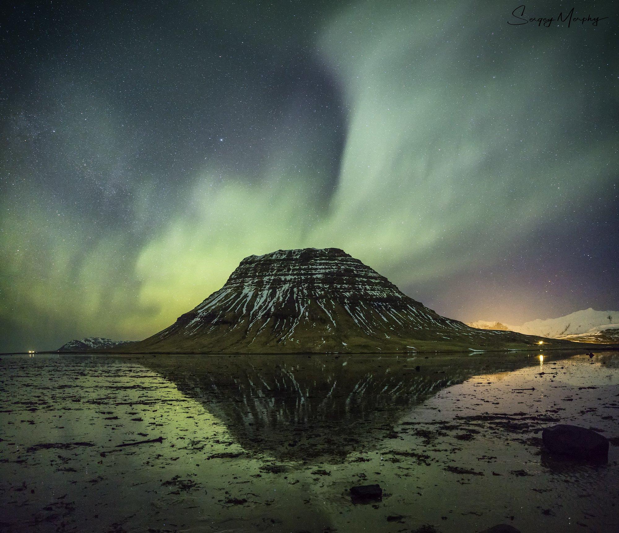 kirkjufell iceland northern lights, Sergey Merphy