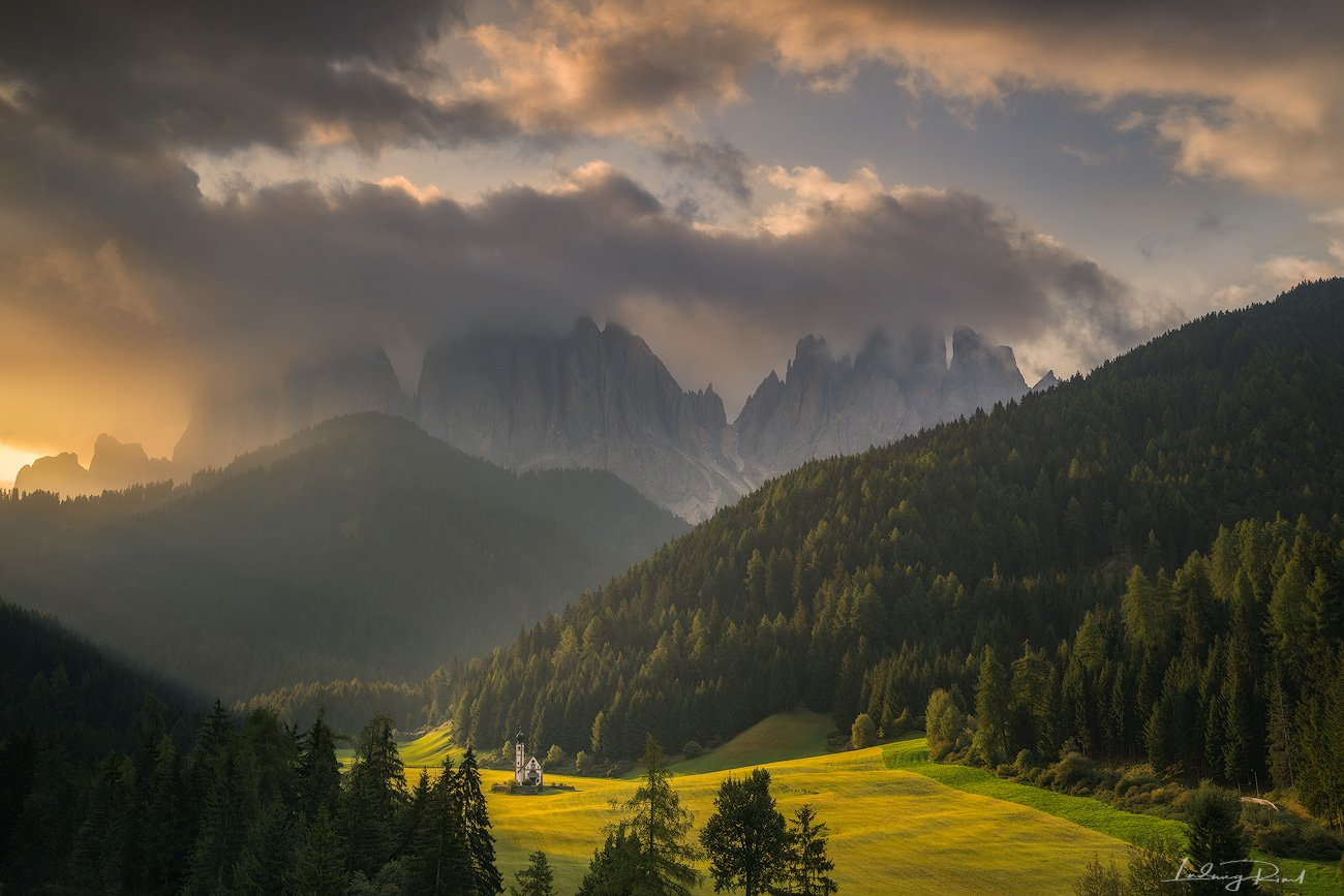alps, awakening, beauty, bolzano, chalk stone, chantry, chapal, chiesetta di san giovanni in ranu, church, cliffs, clouds, dolomites, field, forest, hiking, italy, klimbing, meadow, morning, morning glow, mountain top, mountaineers, mountains, nature, out, Ludwig Riml