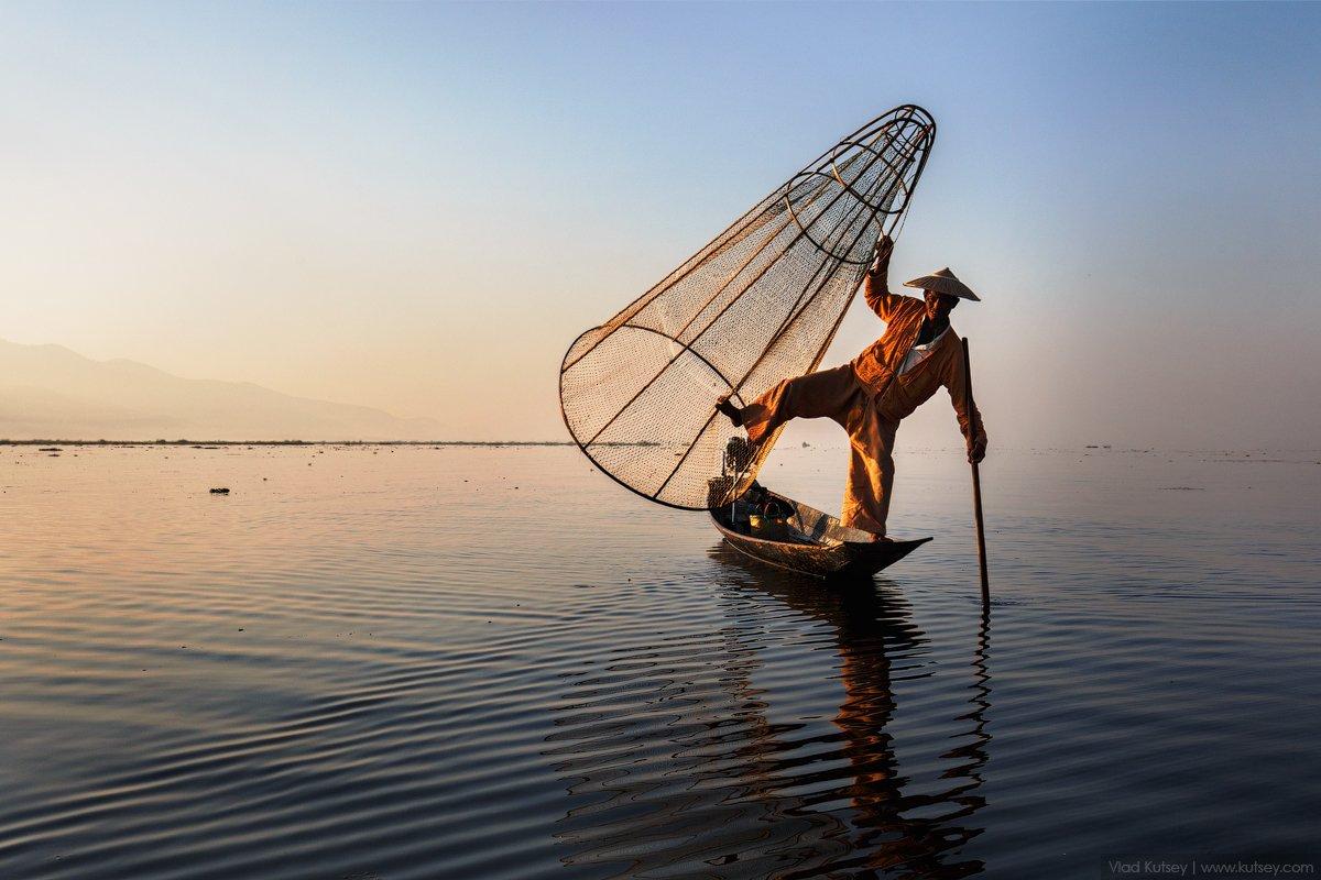 lake,бирма,инле,озеро,рыбак,мьянма,fisherman,Myanmar,Burma,Inle,инта,inlelake,intha, Владимир Куцый (Vlad Kutsey)