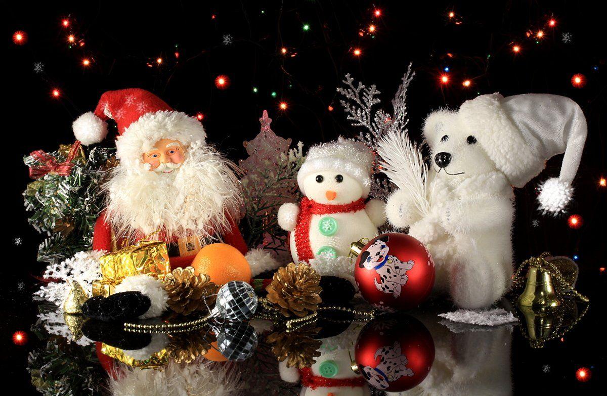 праздник, новый год, дед мороз, игрушки, снеговик, мишка, Шруб (Беляева) Татьяна