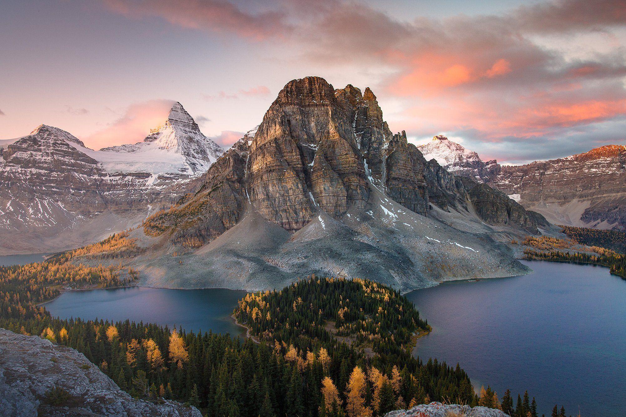 assiniboine, rockies, горы, путешествия, канада, Evgeny