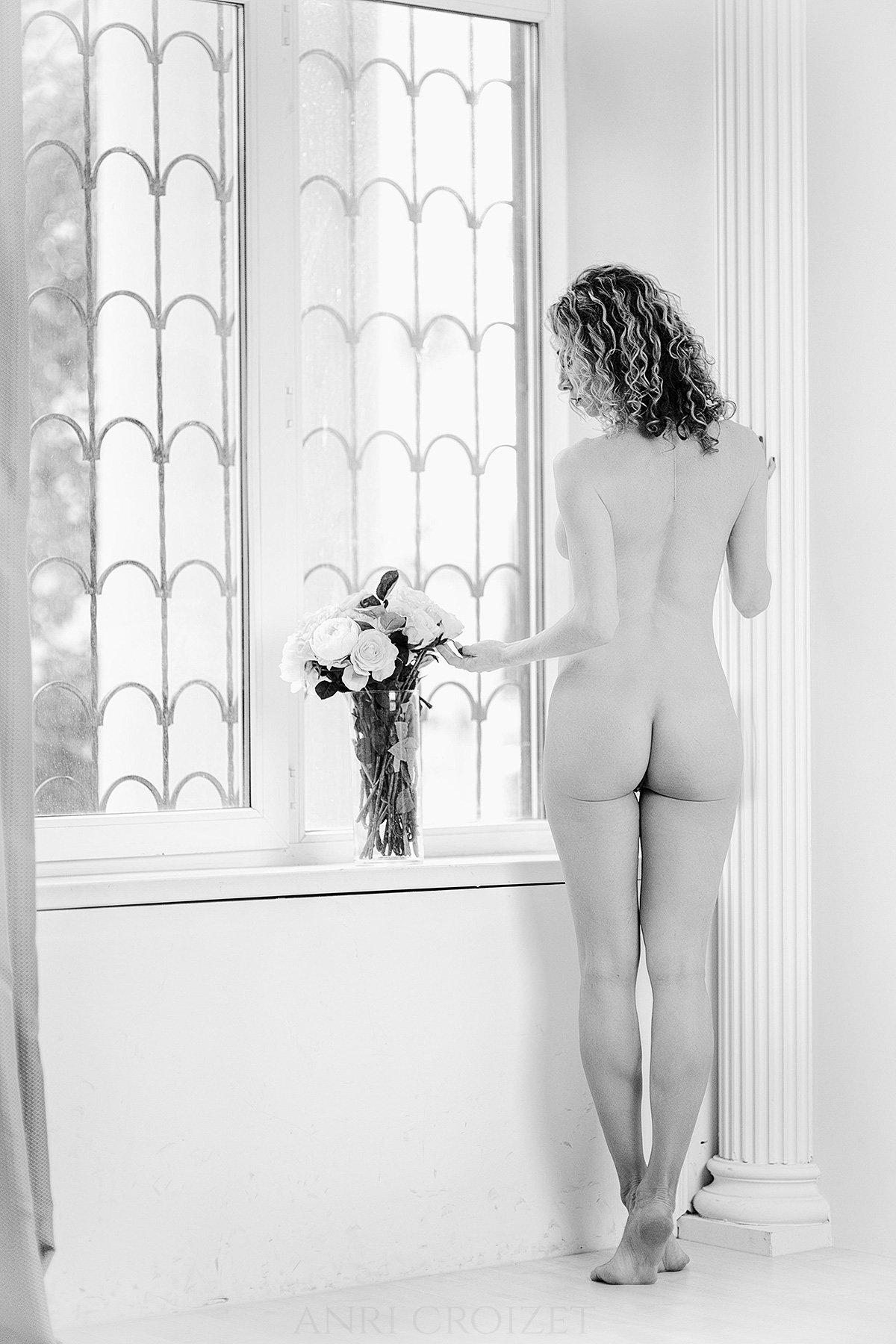 ню, портрет, чб, гламур, утро, новый год, Анри Круазе
