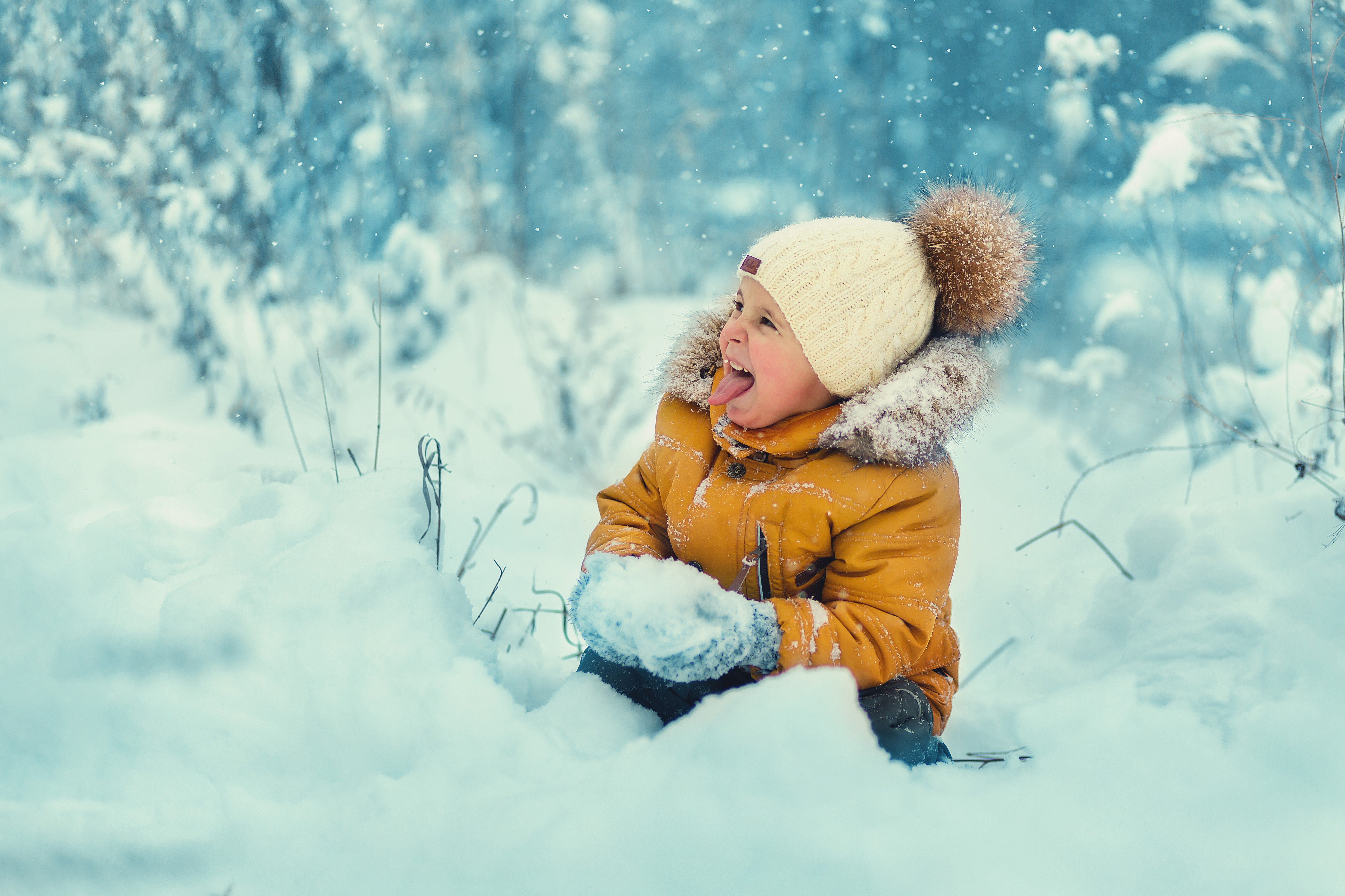 зима, дети, снег,, Алена Пайвина
