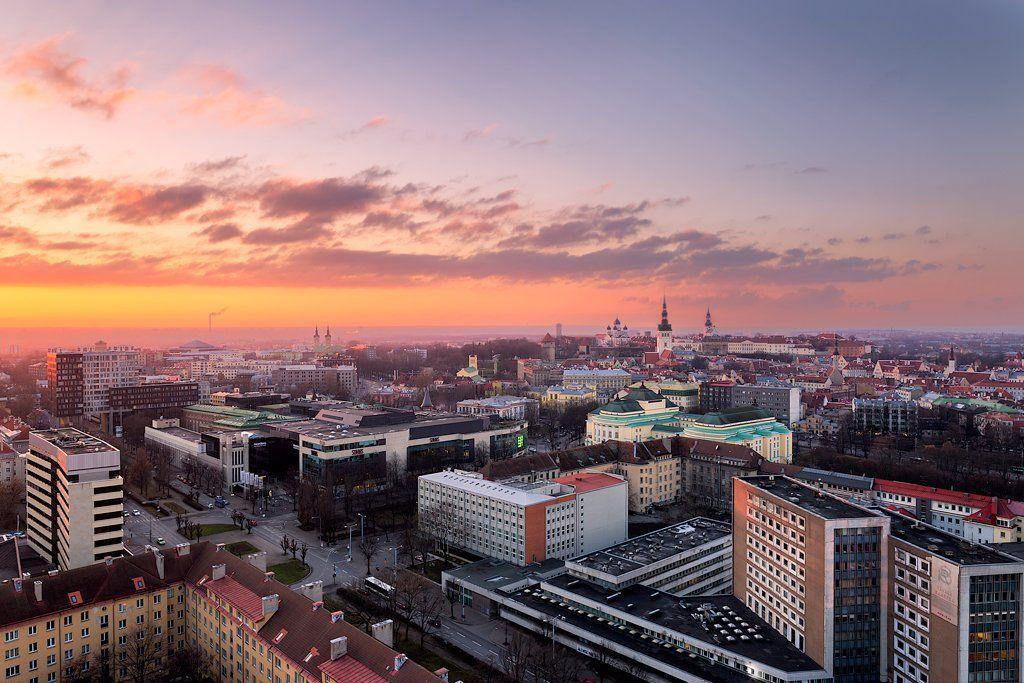 tallinn; estonia; city; cityscape; sunset,, Imre Aunapuu