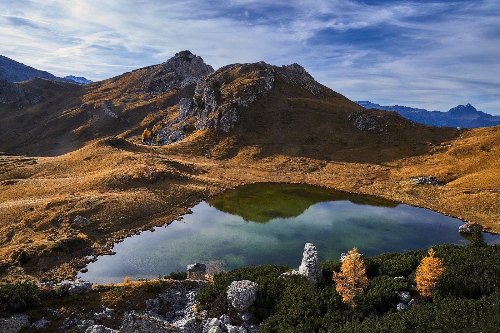 lake,Passo Valparola, Dolomites, Italy, Jan Siemiński
