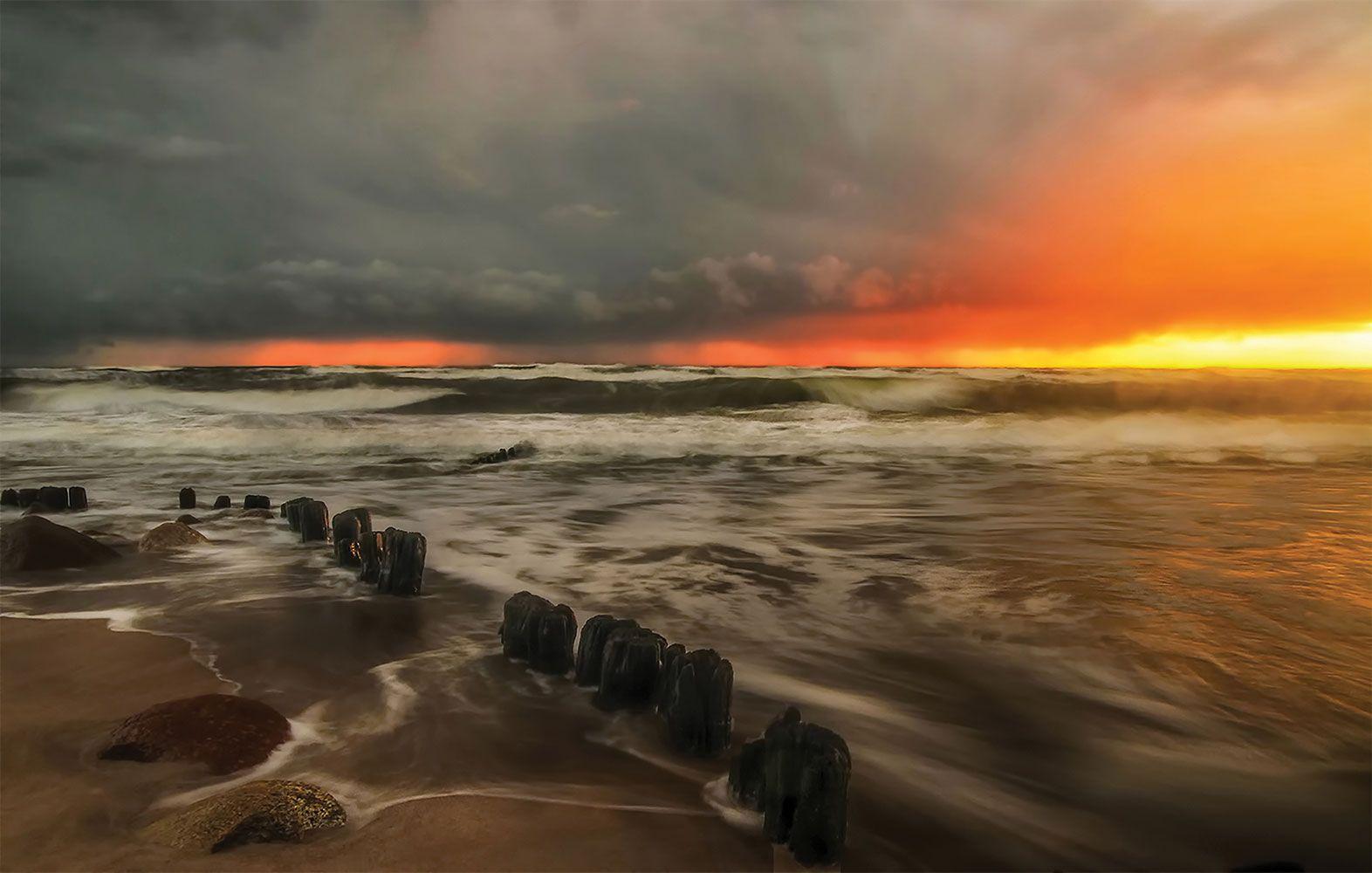 sunset, seascape,sky, Daiva Cirtautė
