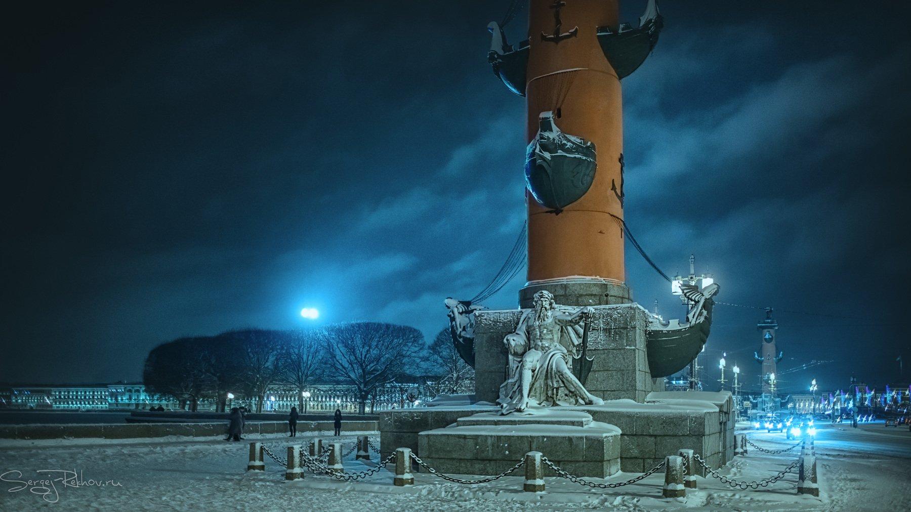 питер, санкт-петербург, зима, ночь, мороз, рехов, сергейрехов, rekhov, sergejrekhov, Сергей Рехов
