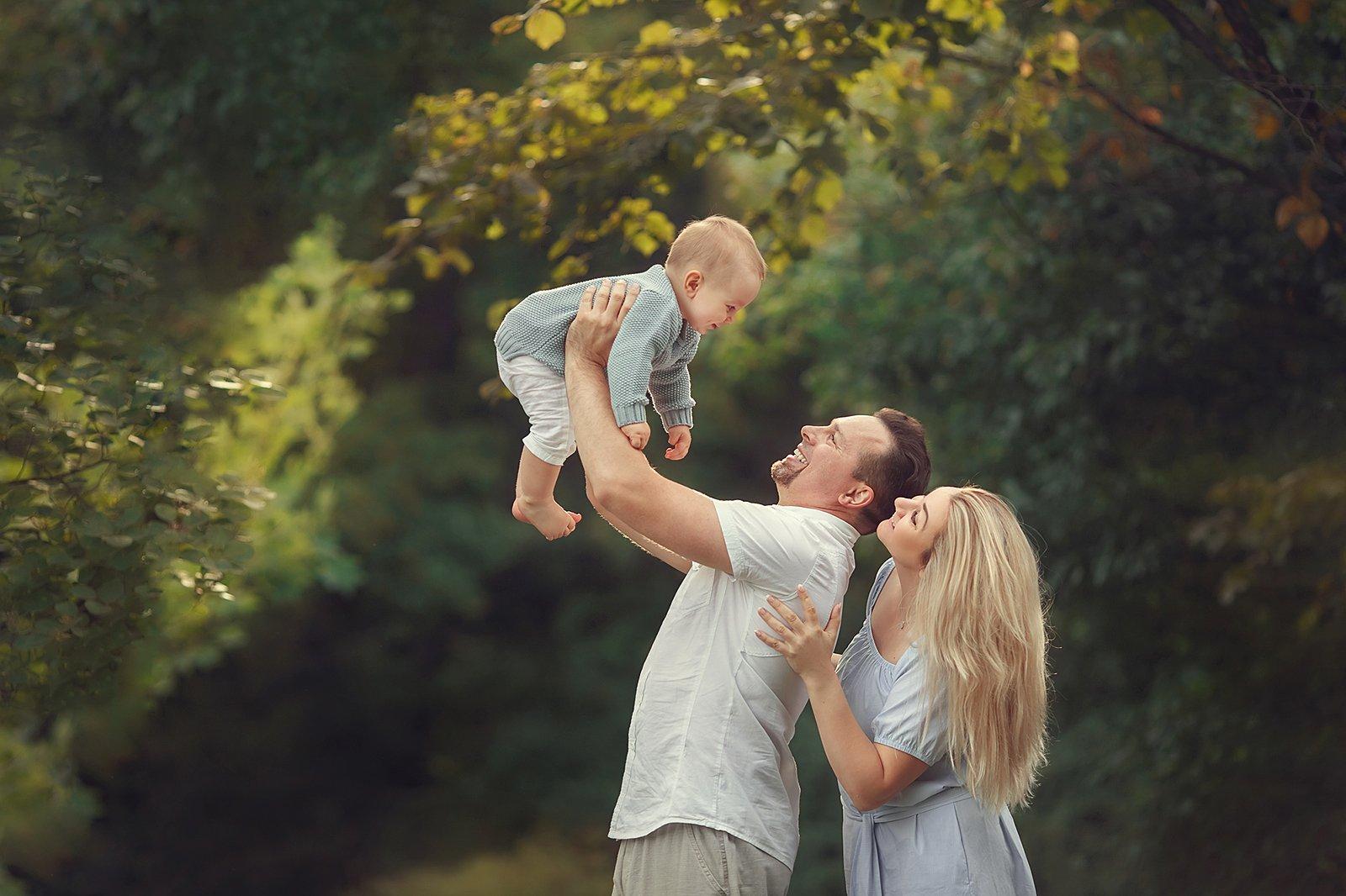 семья, дети, портрет, Ольга Балакир