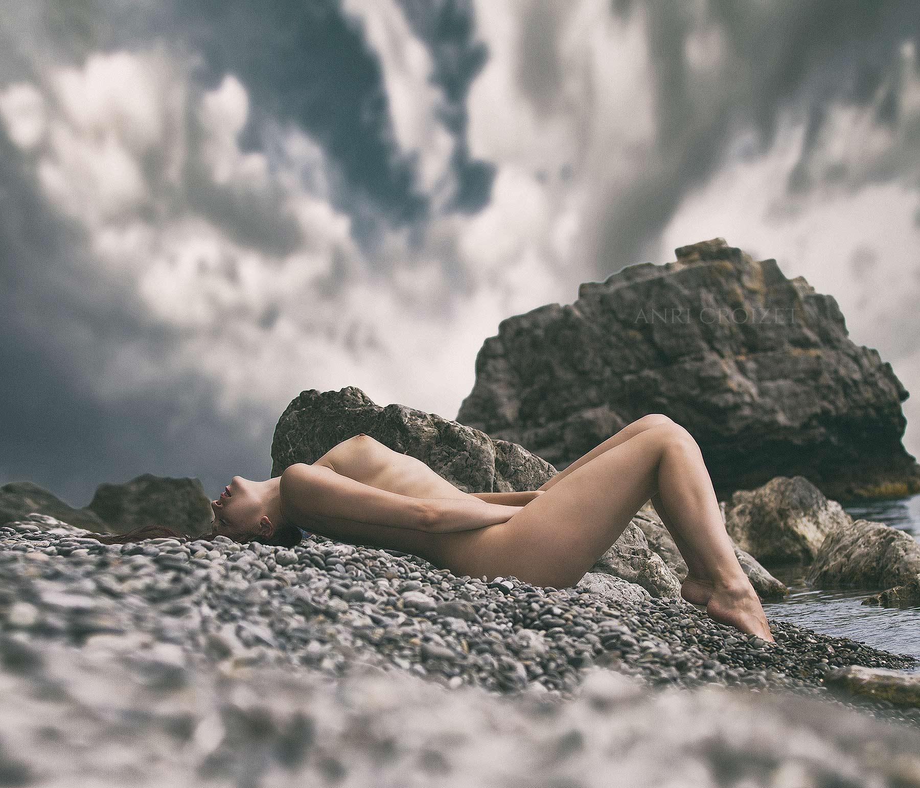 ню, портрет, модель, крым, море, Анри Круазе