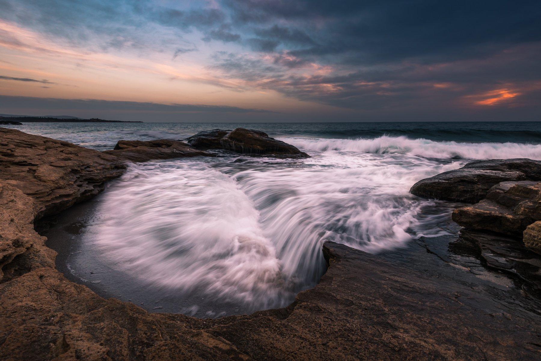 sea,wave,water,sunset,landscape.outdoor,clouds,sky,, Jeni Madjarova