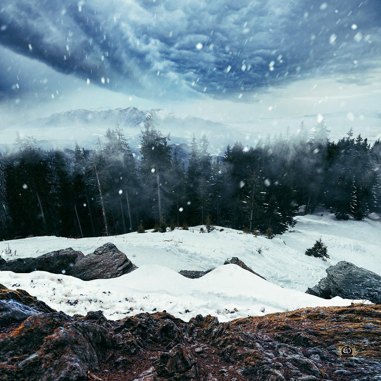 snow, winter, landcape, ps, manipulation, Caras Ionut