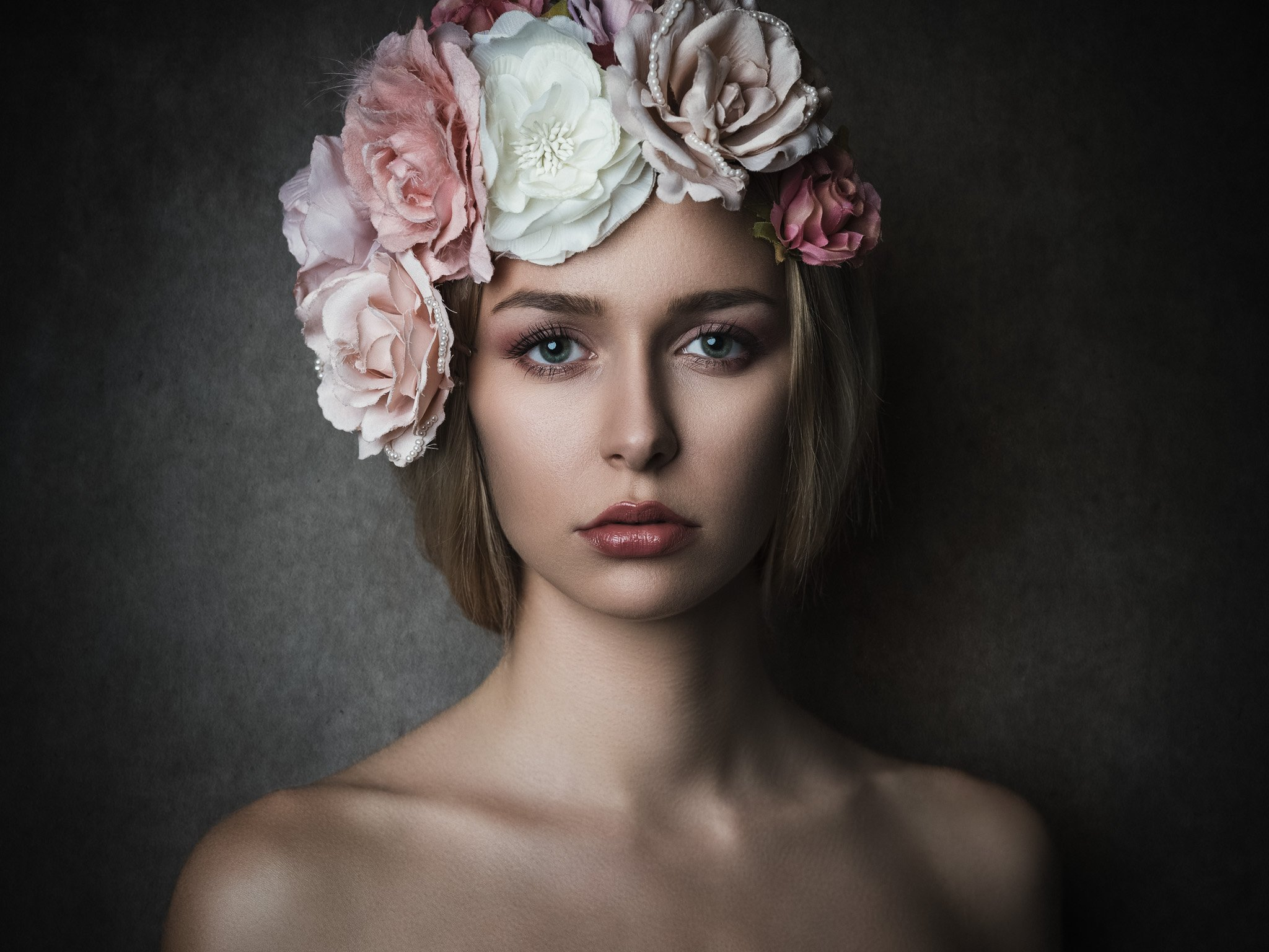 portrait, hairflowers, Michael Schnabl