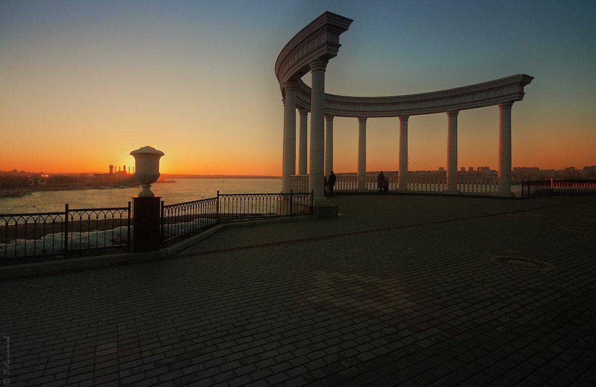 город, пейзаж, весна, вечер, закат, Владимир Комышев