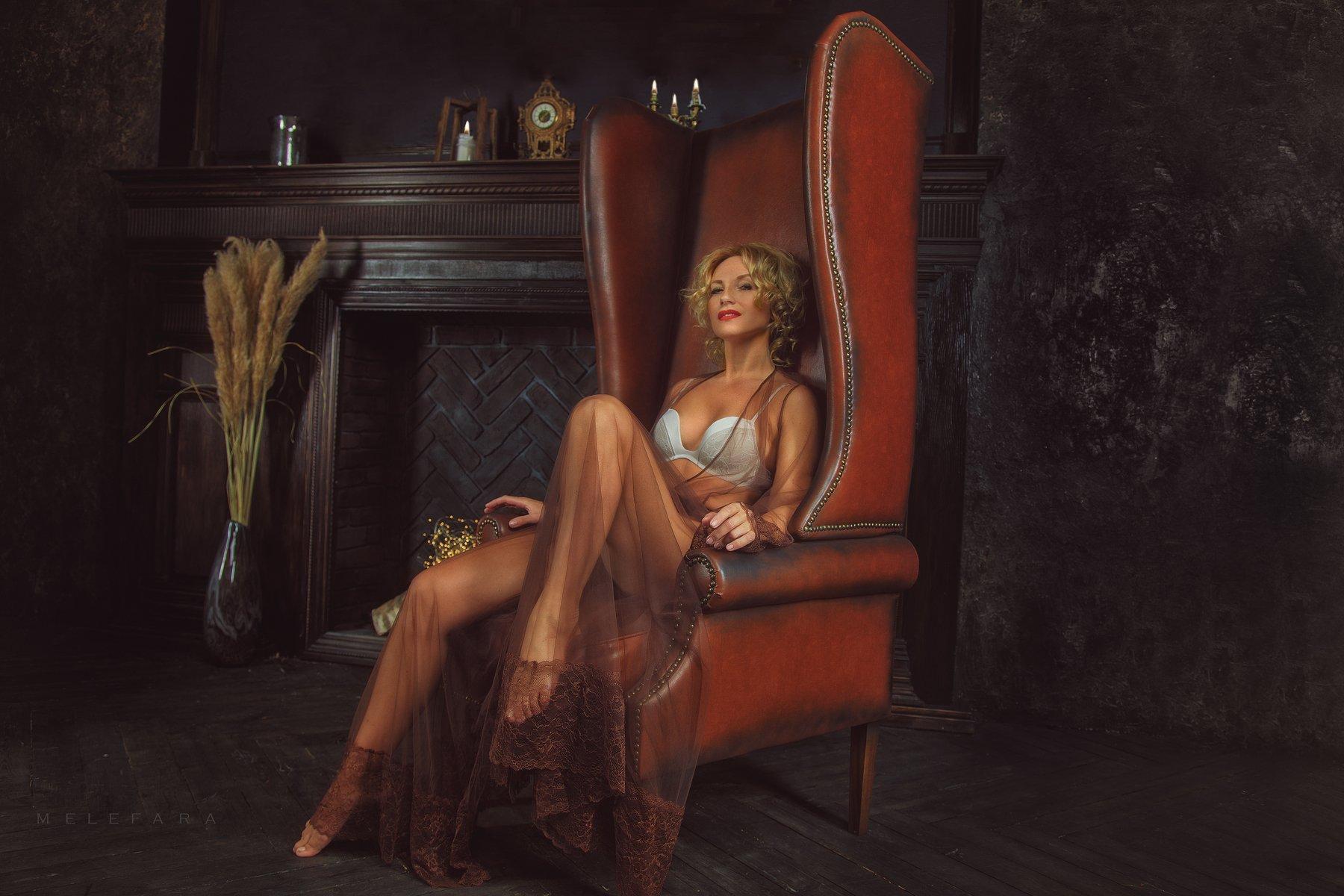 chair, beautiful, girl, woman, Сергей Мелефара