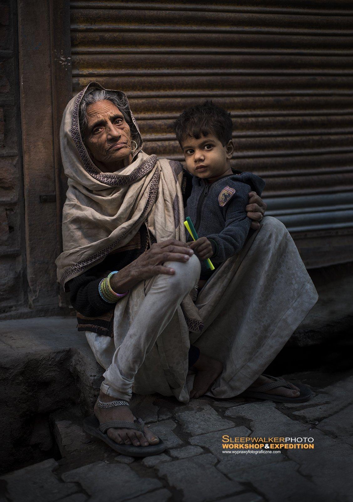 woman, people, children, portrait, india, Tomek Jungowski