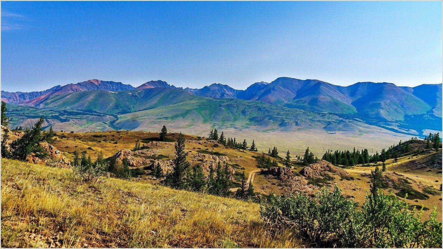 пейзаж, горы, утро, Горный Алтай, Александр Потапов