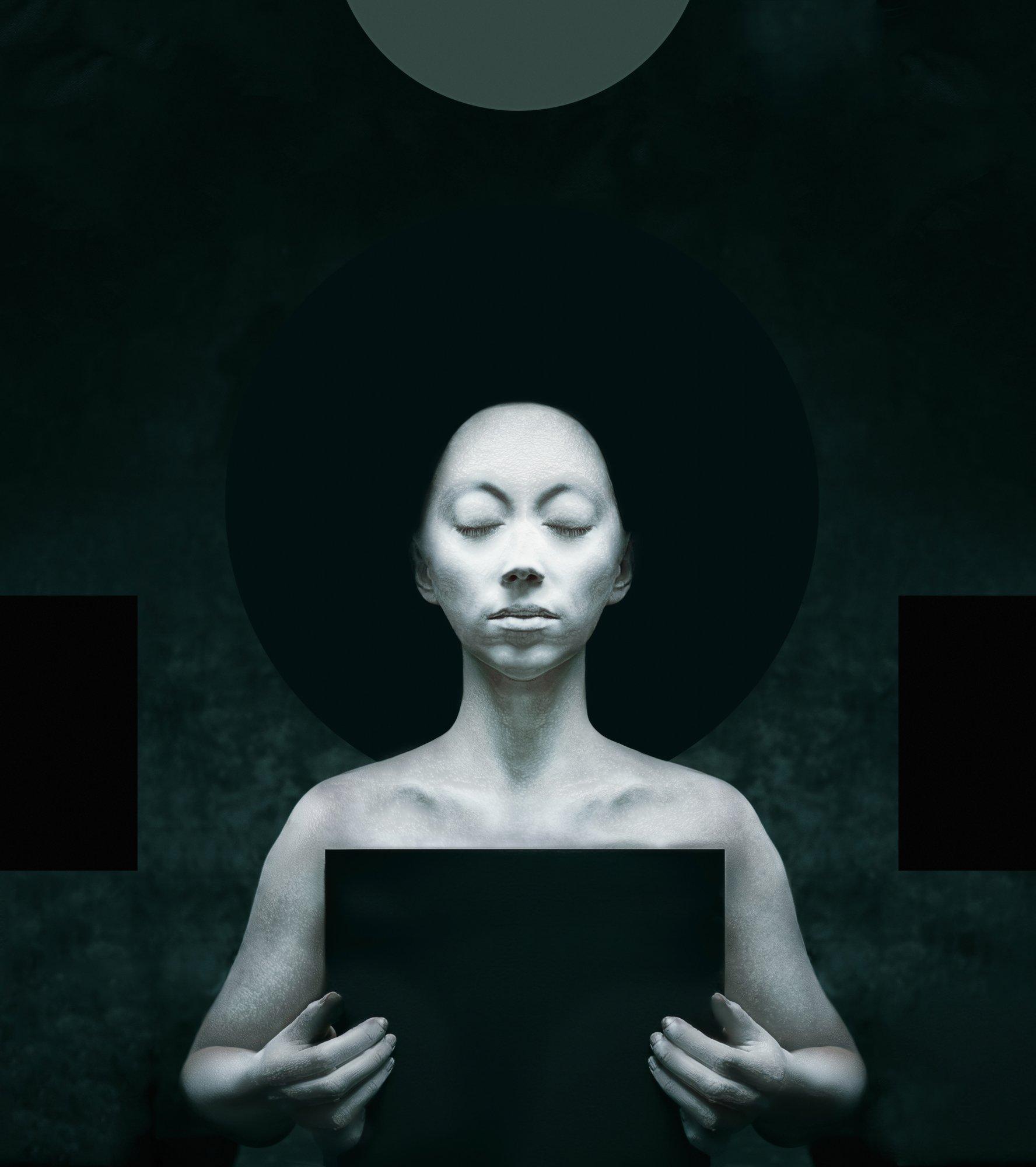 гуманоид, медитация, геометрия, портрет, Наталья Голубева