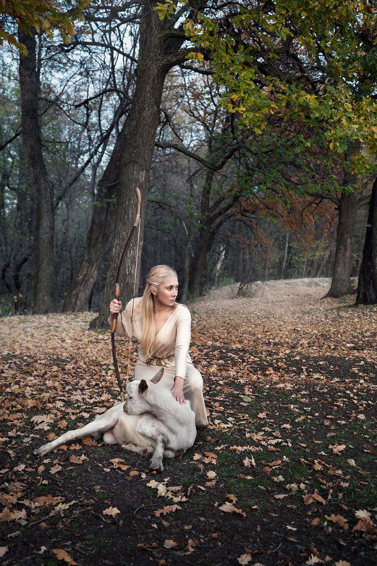 фото , цвет , девушка , портрет , жанр , пастушка , лук , блондинка , козёл , природа, Федотов Вадим(Vadius)