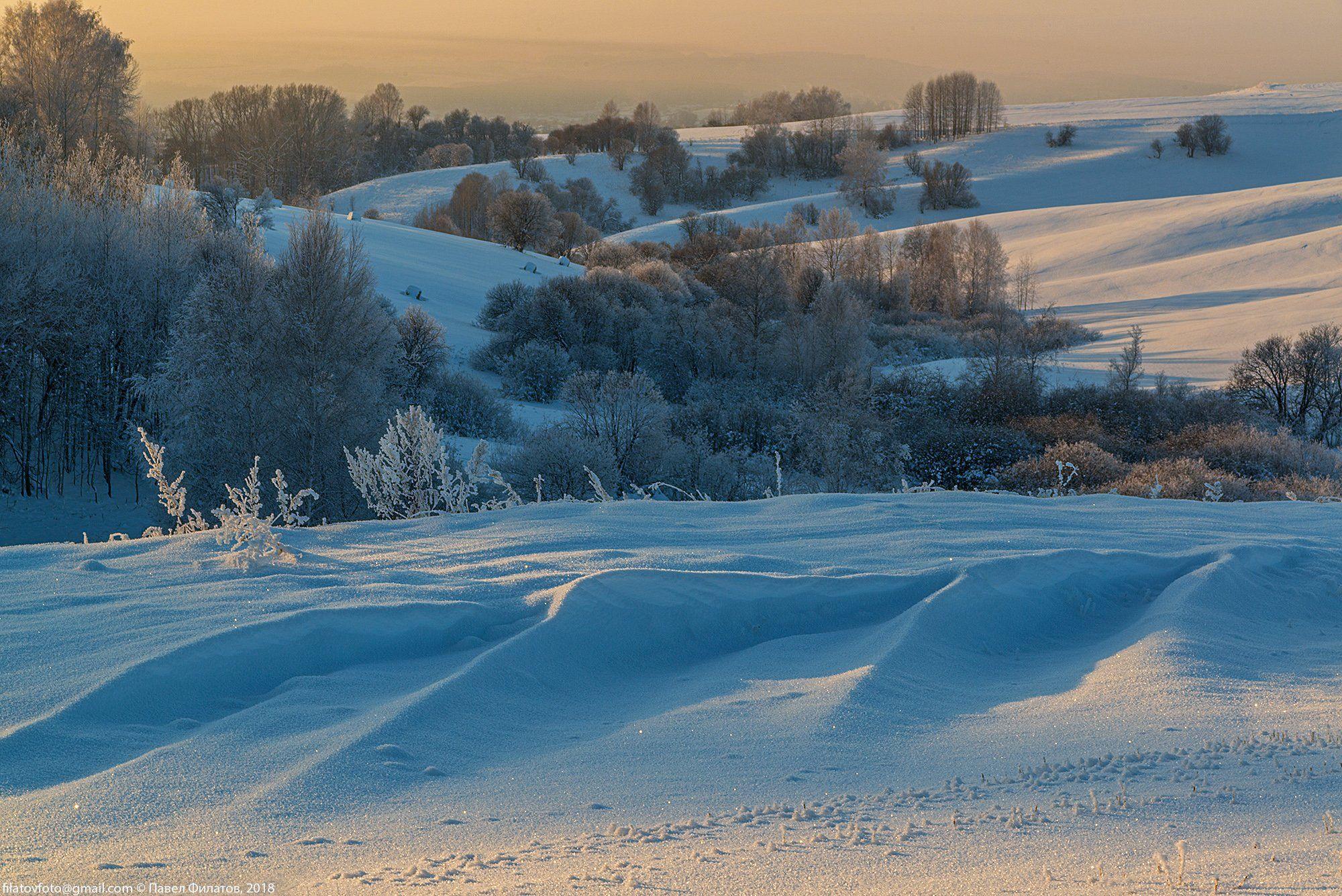 алтай, сибирь, предгорья, красногорье, красногорский район, снег, фактура, вечер, Павел Филатов