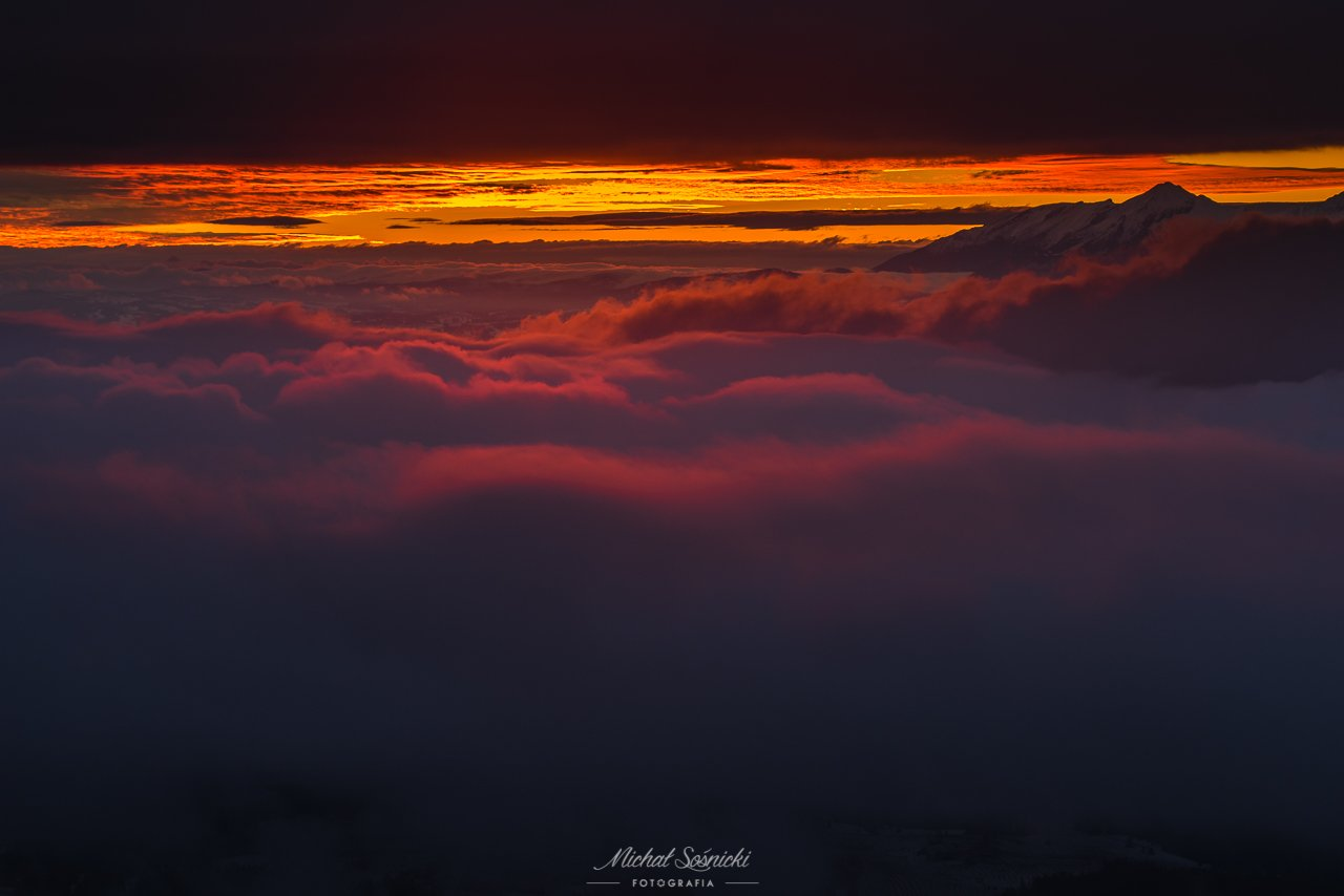 #sunrise #sun #foggy #poland, Michał Sośnicki