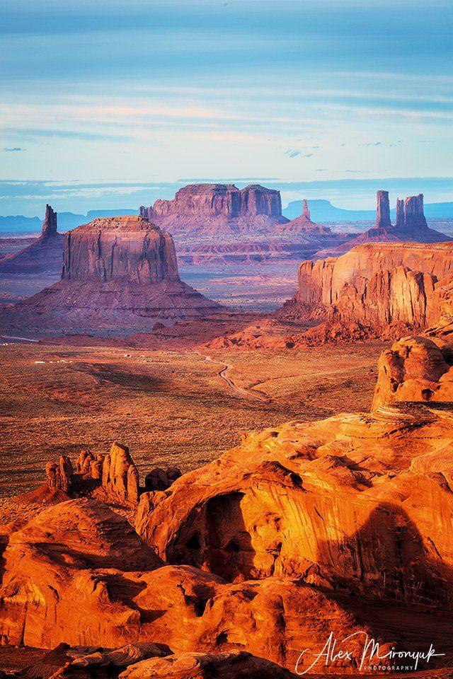 долина, монументов, аризона, сша, вестерн, индейцы, закат, скалы, пустыня, ковбои, Alex Mironyuk
