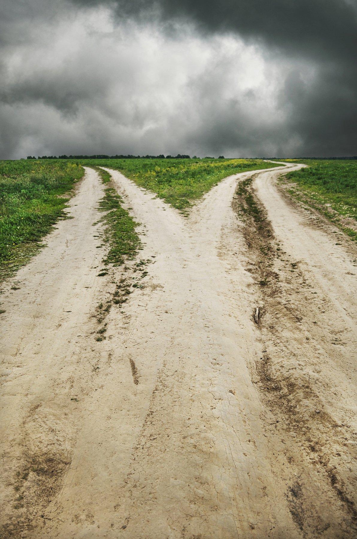 дороги, перепутье, деревня, природа, горизонт, небо, тучи, поле, лес, анна салтыкова, весна, Анна Сергеевна Салтыкова (Анка)