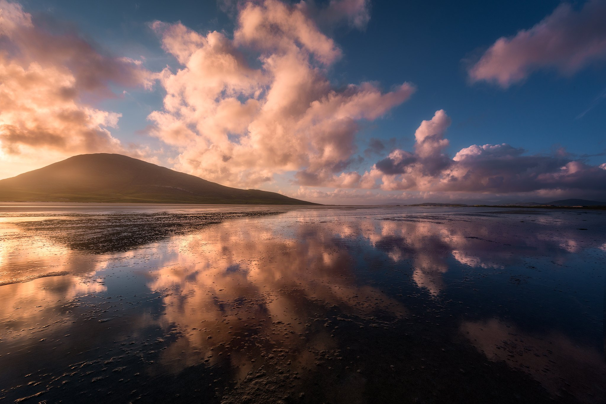 isle of harris hebrides scotland sky clouds reflection sescape light mood colors, Maciej Warchoł