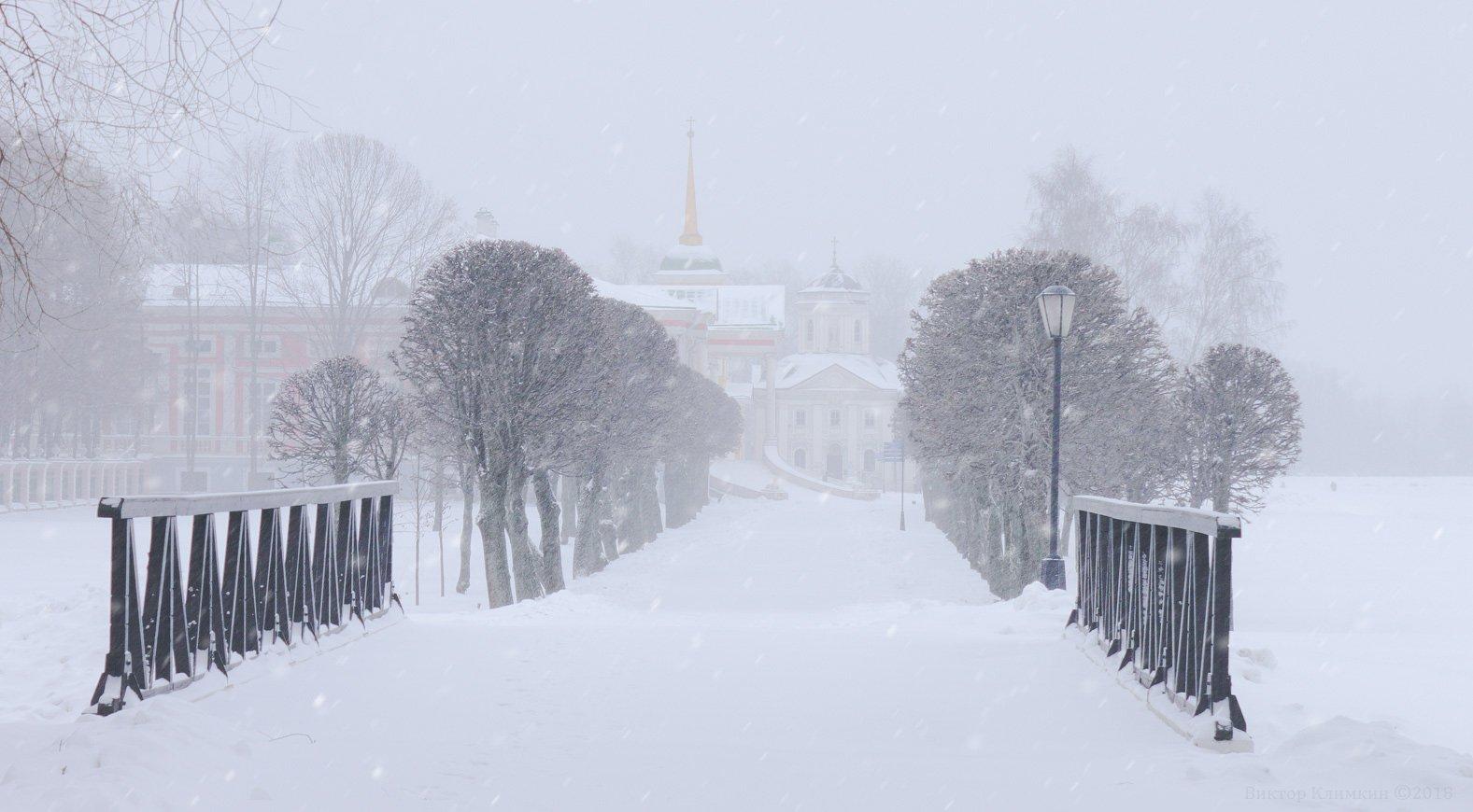 зима, кусково, снегопад, Виктор Климкин