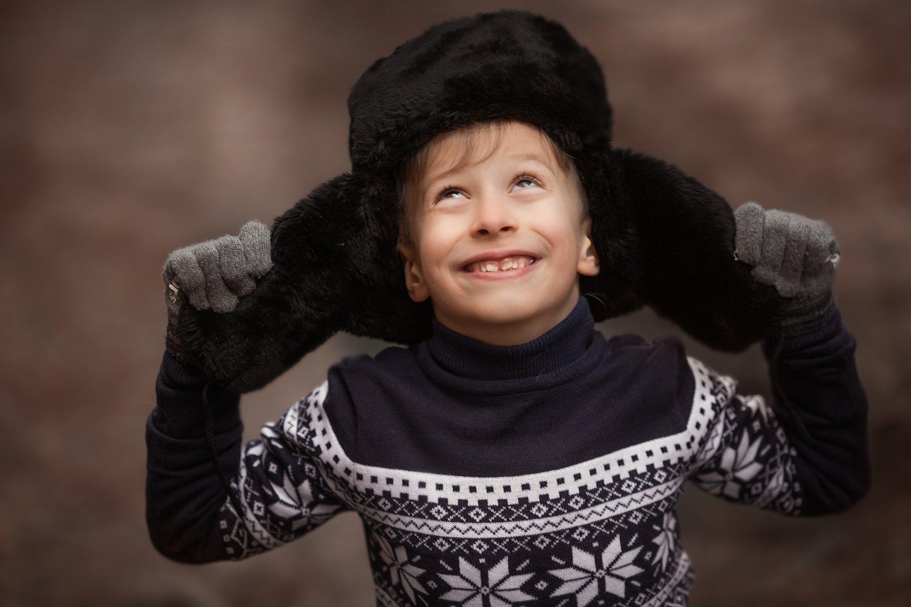 зима, мальчик, портрет, portrait, Ника Колесникова