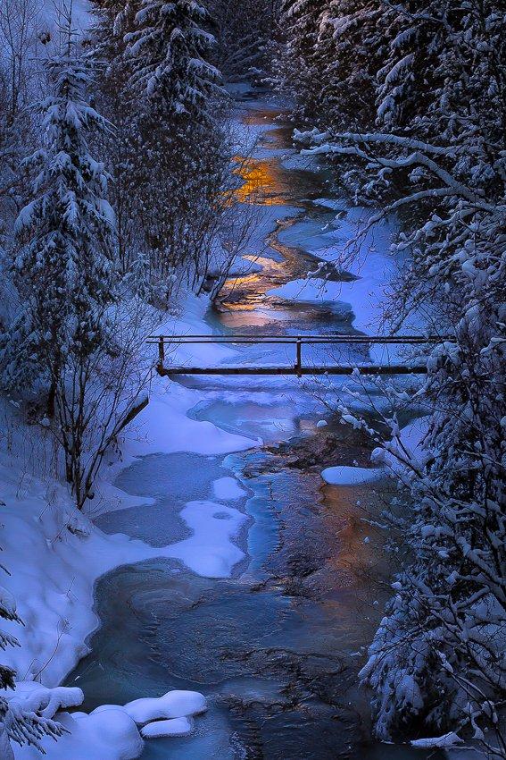 winter, sunset, ice, Gabriel Prescornita