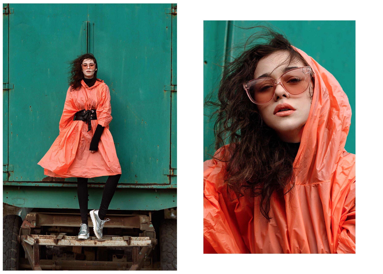 Orange, девушка, модель, позинг, модельные тесты, цвет, оранжевый, контраст, красивая, глаза, губы, Анна Дегтярёва