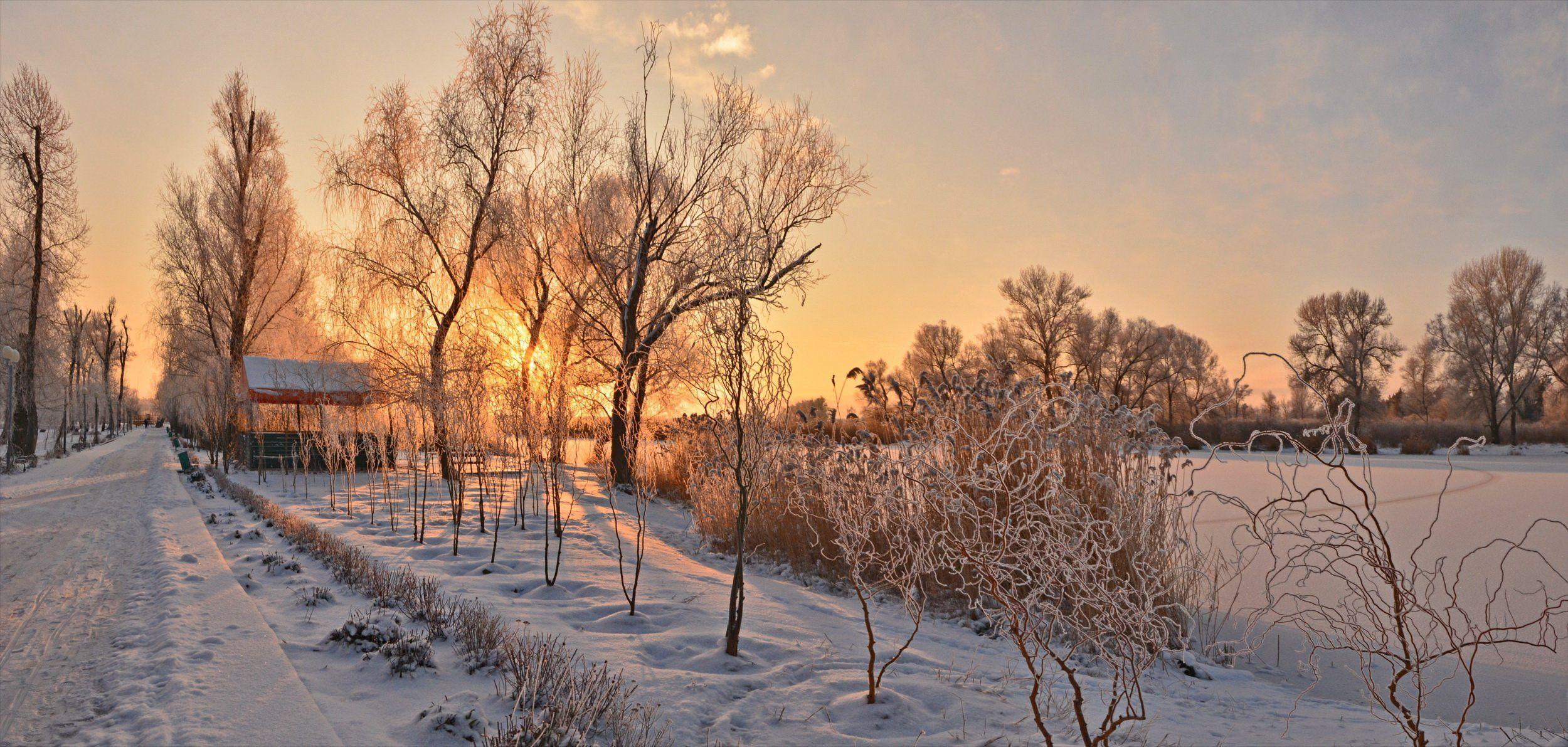 январь, утро, рассвет, Валерий Наумов