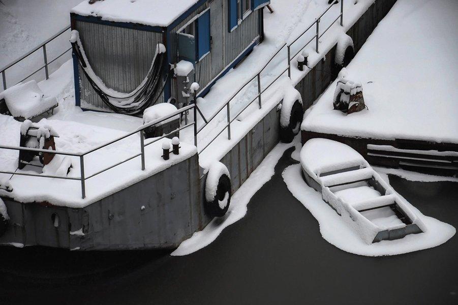 река, навигация, зима, Slowhill