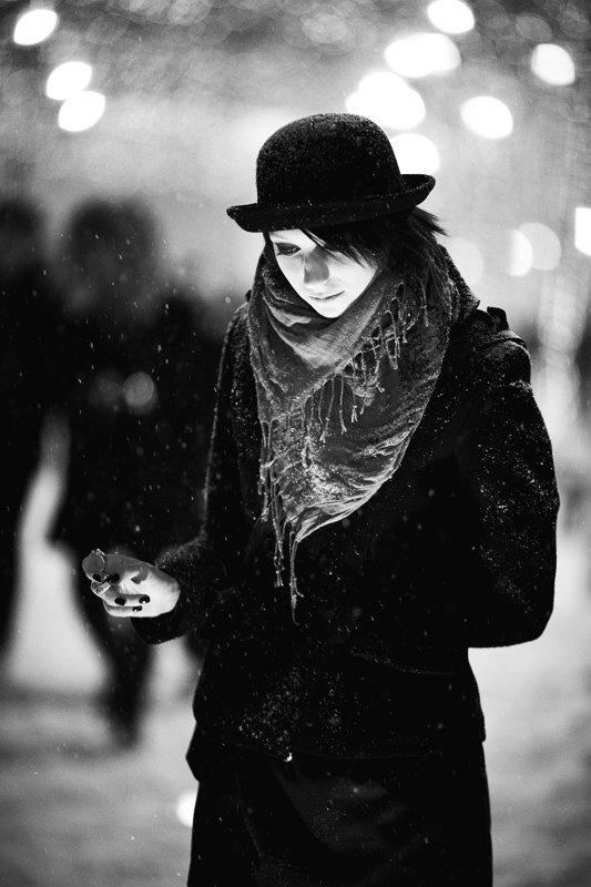 смайзл, портрет, девушка, зима, Александр Ёж